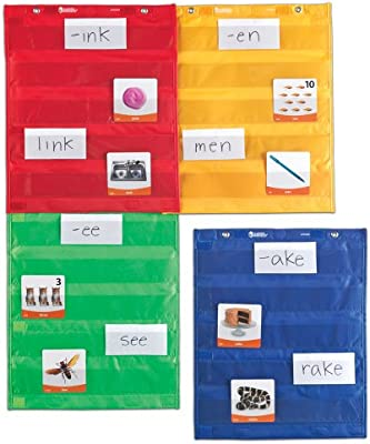Amazon com learning resources magnetic pocket chart squares