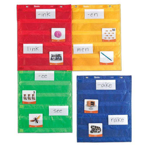 Wide Teachers Learning Center - Learning Resources Magnetic Pocket Chart Squares, Classroom/Teacher Organizer, All Grades, Set of 4