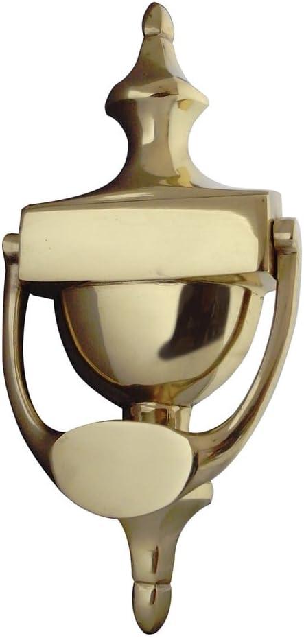 JV38S 150 mm urna aldaba de lat/ón pulido de The Door Handle Store