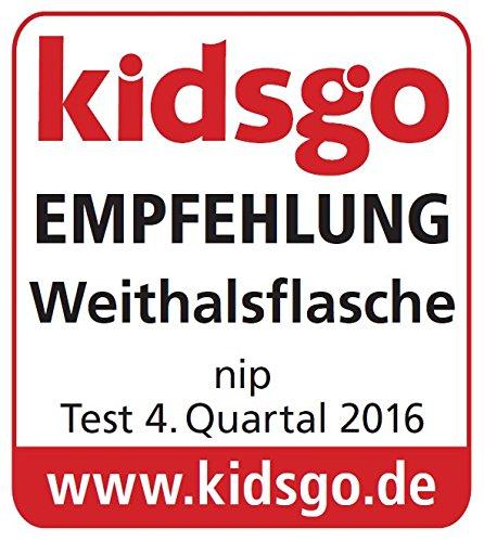 Glass BPA-Frei Saugloch M-mittlerer Trinkfluss 120 ml Einheitsgr/ö/ße NIP Weithalsflasche mit Anti-Kolik Sauger: Baby Trinkflasche mit ACTIFLEX- System Boy Made in Germany