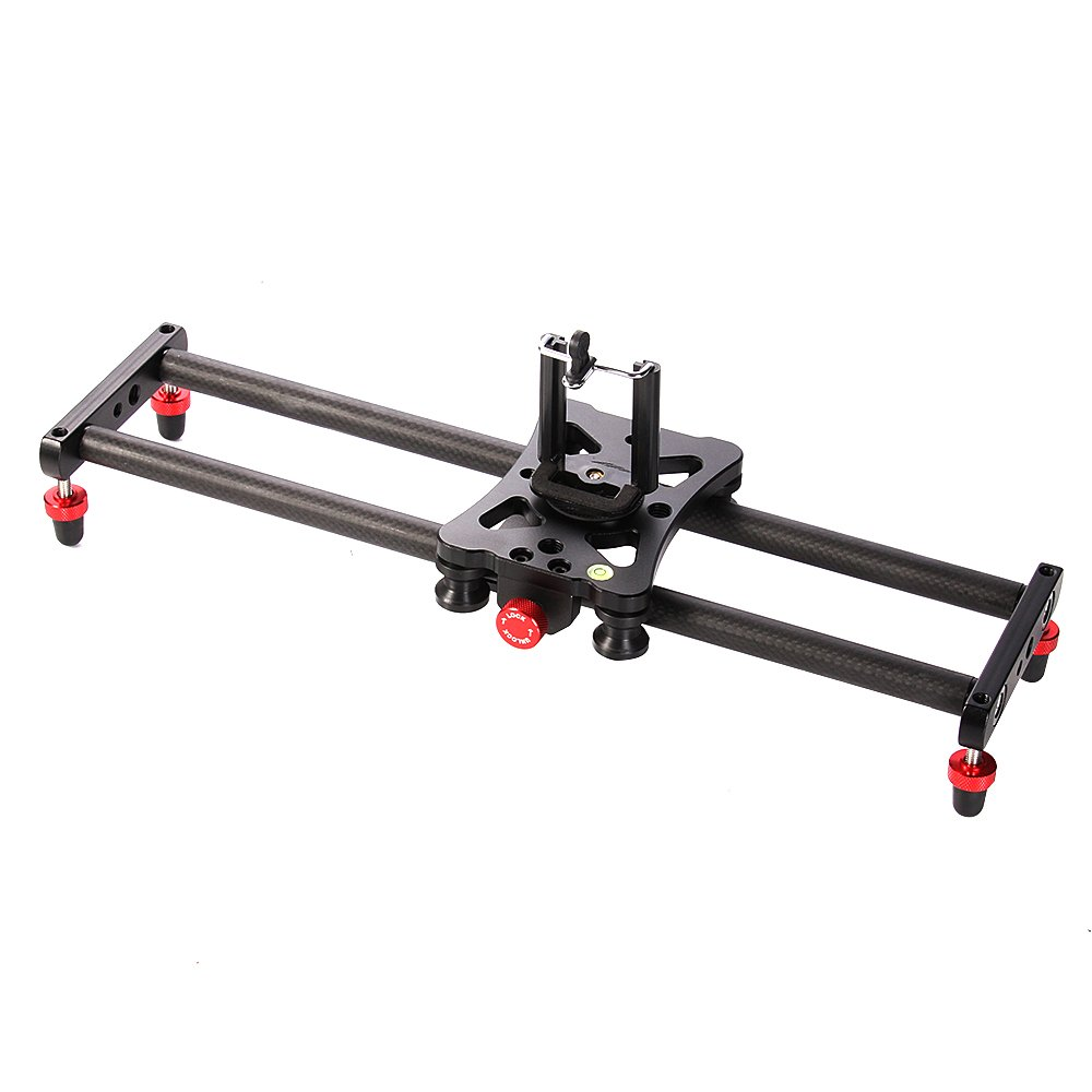 Ruili 15in Mini Video Camera Slider Dolly Track with Roller Bearing for Cellphone, Sony A9 A7 A6500 A6000 Nikon D7500 D3400 D3300 Canon T6i 7D 1300D Panasonic GH5 GH5S GH4 DSLR Camera