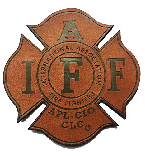 Genuine Leather IAFF UNION 4 (hook/loop) Firefighter/EMT/Paramedic Morale PATCH
