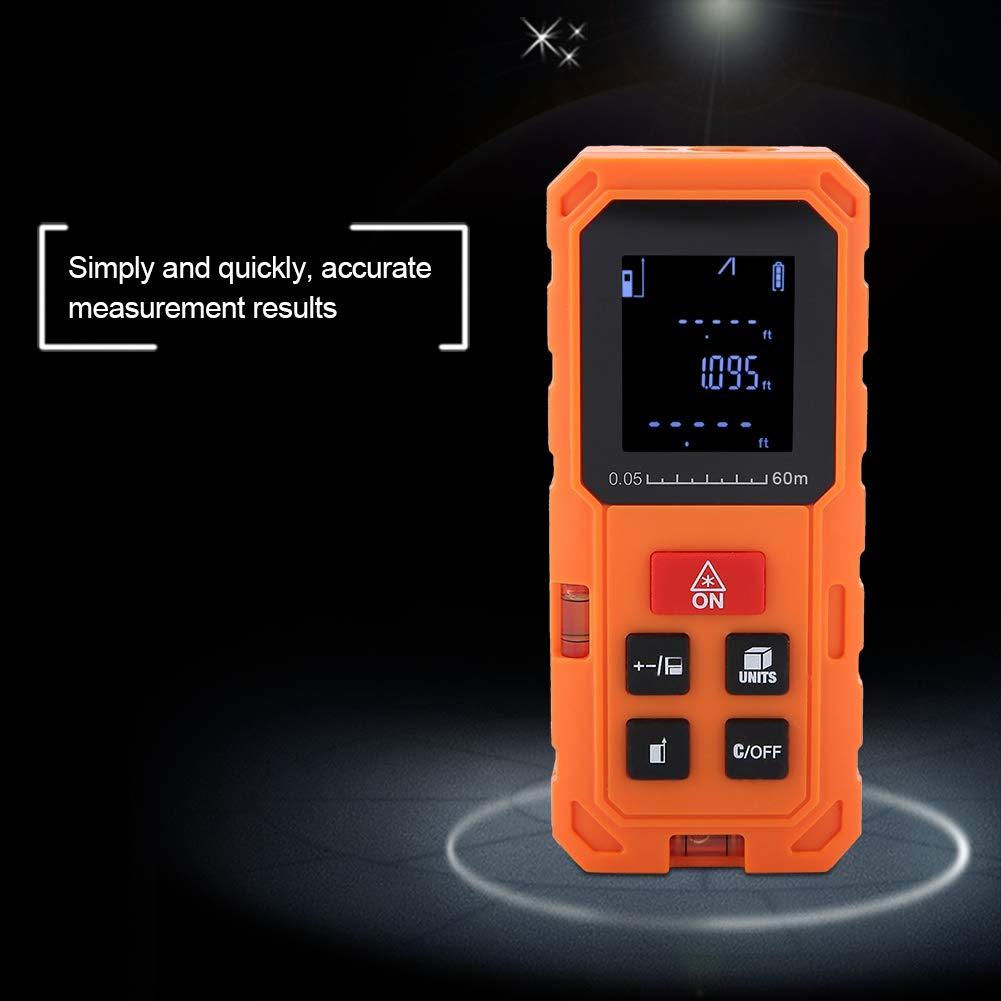 Akozon Tel/émetros l/áser 60M Medidor Laser de Distancia Profesional Precisi/ón 2mm