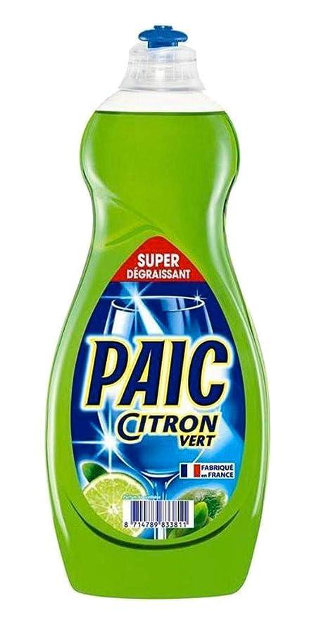 Paic líquido lavavajillas limón verde 750 ml: Amazon.es: Salud y ...