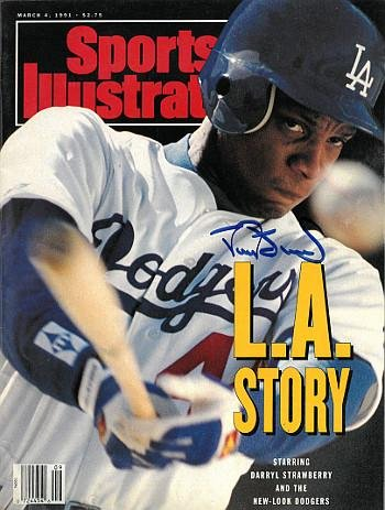 Darryl Strawberry Signed Los Angeles Dodgers Sports