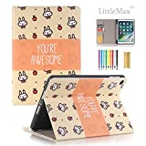 LittleMax iPad 9.7 Inch 2017/2018 Case with Pencil Holder, Slim Fit Folio Flip Kickstand Protective Case Auto Wake/Sleep Function Cover for Apple iPad 9.7 Inch 2017/2018 -# Little Rabbit