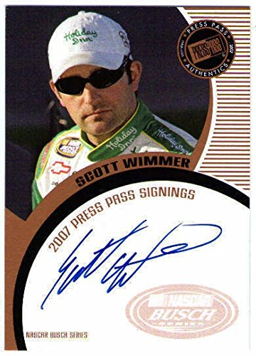 SCOTT WIMMER 2007 Press Pass Signings Bronze Auto On Card Autograph