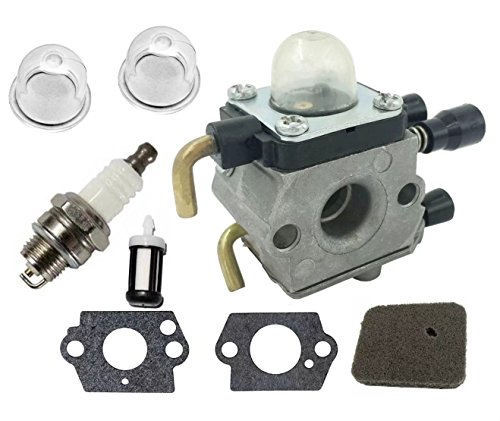 JahyShow for Stihl FS55R Carburetor,C1Q-S186 Carborator for Stihl FS38 FS45 FS46 FS55 FS55R FS55RC KM55 HL45 KM55R, stihl FS45 Stihl FS46 Parts String Trimmer Weedeater with Tune Up Kit -  BM-Z462