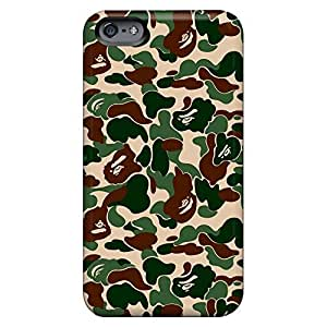 Hot Style mobile phone carrying covers Protective Beautiful Piece Of Nature Cases Shock-dirt iphone 5 / 5s - bape