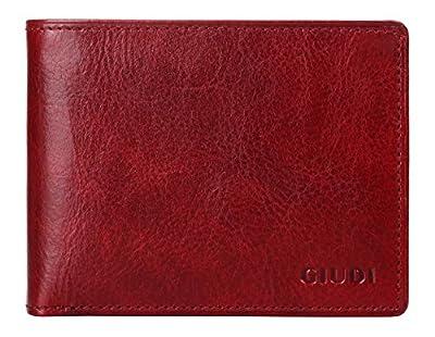 Giudi Deluxe Genuine Leather Bifold Men's Wallet Made in Italy