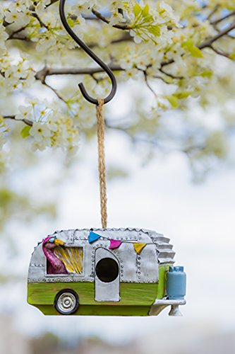 - Evergreen Flamingo Camper Hanging Bird House