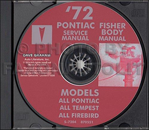 1972 Pontiac CD-ROM Shop & Body Manuals - All Models