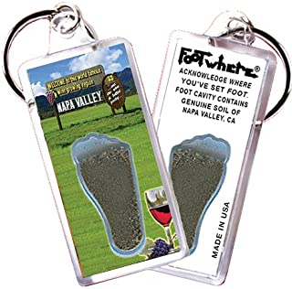 "product image for Napa Valley""FootWhere"" Souvenir Keychain. Made in USA. (NPV101 - Welcome)"