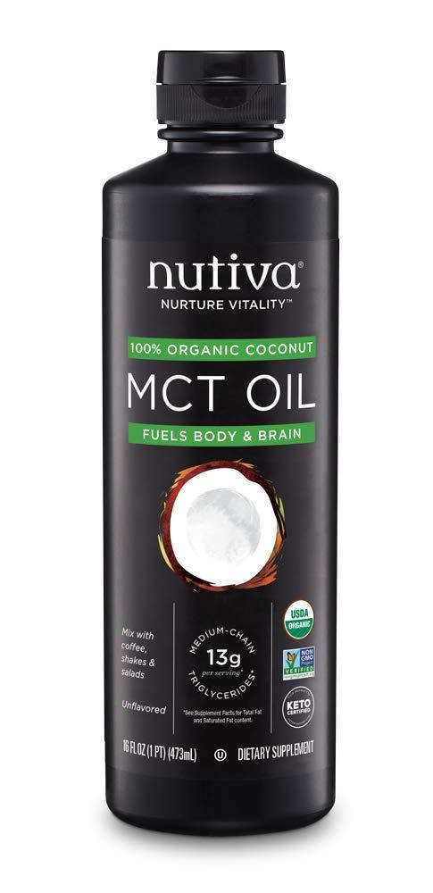 Nutiva Organic MCT Oil, 16 Fl Oz