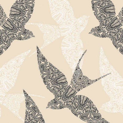 Swallows Paper Lunch Napkins 40pcs , Lace Birds, Spring Deco by Luxuriousness