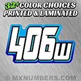 MX & ATV Number Plate Decals | Set of 3