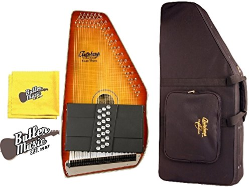 Oscar Schmidt OS11021FHS Acoustic 21 Chord Autoharp w/Hard Case and More by Oscar Schmidt