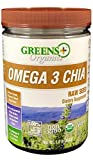Greens+ Organic Omega3 Chia Ancient Raw Seed | Dietary Supplement | Non-GMO | Soy, Dairy & Gluten-Free | USDA Organic | Vegan | Source of Hydration & Powerful Superfood | Rich in Omega3 |1 lb Jar