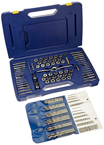 Irwin Tools 1813817 Performance Threading System Deluxe Tap, Die and Drill Bit Set, 116-Piece