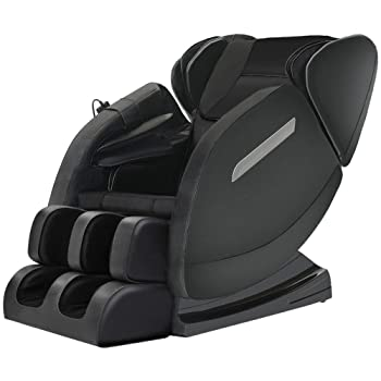 Massage Chair Recliner with Zero Gravity, Full Body Air Pressure, Bluetooth, Heat and Foot Roller Include