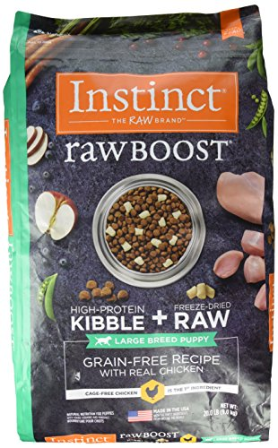 Instinct Raw Boost Large Breed Puppy Grain Free Recipe with Real Chicken Natural Dry Dog Food by Nature's Variety, 20 lb. Bag