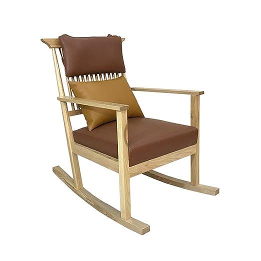 HYYTY-Y Silla Mecedora de sofá de Madera Maciza, sillón de ...