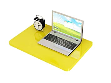 ZCJB Escritorio Plegable Amarillo para Computadora, Mesa Portátil Ordenador Portátil Suspendido para Estudio, Dormitorio, Baño O Balcón (Tamaño : 100x40cm): ...