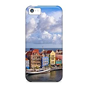 Excellent Iphone 5c Case Tpu Cover Back Skin Protector Coastal City