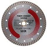 MK Diamond 156994 Plank Kutter 7-Inch Dry Cutting Continuous Rim Diamond Saw Blade with 5/8-Inch Arbor for Fiber Cement Siding