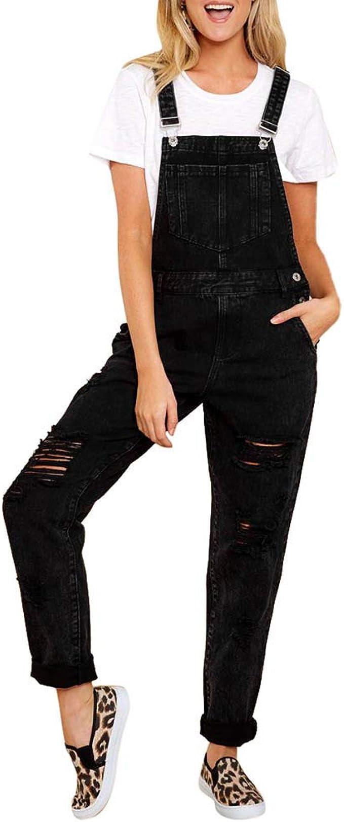 K Youth 2019 Jeans De Mujer Slim Pantalones De Mezclillade Mujer Mono Tirantes Casual Jeans Para Mujer Pantalones De Peto Mujeres Vaqueros Rotos Mujer Pantalones Largos Mujeres Elegante Amazon Es Ropa Y Accesorios