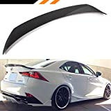 Cuztom Tuning Fits for 2014-2019 Lexus IS200t IS250 IS350 IS300 AR Style Carbon Fiber High Kick VIP Trunk Spoiler Wing