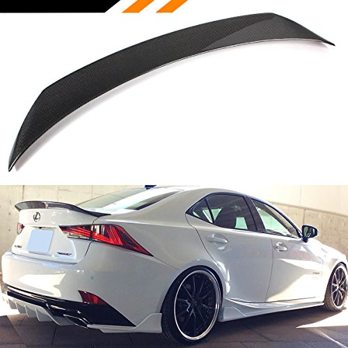 (Cuztom Tuning for 2014-2019 Lexus IS200t IS250 IS350 IS300 AR Style Carbon Fiber HIGHKICK VIP Trunk Spoiler Wing)