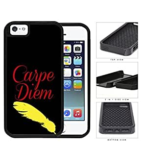 Carpe Diem Olde Tyme Quill 2-Piece Dual Layer High Impact Hard shellSilicone Cell Phone Case Case For HTC One M7 Cover