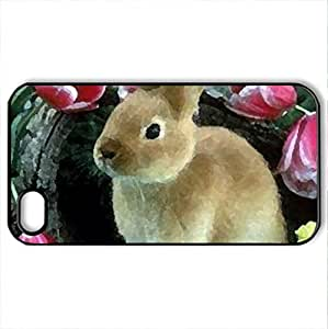 BEAUTIFUL :) - Case Cover for iPhone 4 and 4s (Watercolor style, Black)