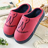 Aemember Bag Of Cotton Slippers With Couples Home Soft Thick Bottom Bottom Skid In Winter Indoor Home Furnishing Shoes,44-45 (Fit For 43-44 Feet),Wine Red (Ban Bao)