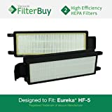 2 - Eureka HF-5 (HF5) HEPA Replacement Filters, Part #'s 61830, 61830A, 61840. Designed by FilterBuy to fit Eureka Commercial Upright Vacuums & Eureka 4D Boss Bagless Upright Vacuum