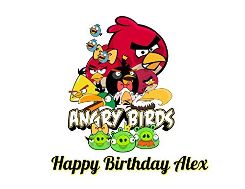 Angry Birds Edible Image Photo Cake Topper Sheet Personalized Custom Customized Birthday Party - 1/4 Sheet - 78264]()