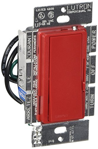 Lutron DVSC-10P-HT Diva 1000-watt Single Pole Dimmer, Hot by Lutron