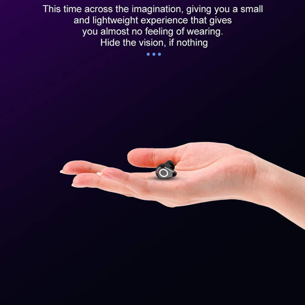 Gr/ün Mikrofon f/ür iPhone Samsung Huawei IPX7 wasserdicht Bluetooth-Kopfh/örer im Ohr Sport happy event Wireless Earbuds Headset Touch Control 2 Modi//BT 5.0 Spielzeit mit Mikrofon Ladebox