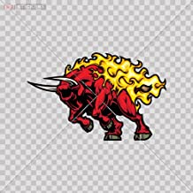 Decals Sticker Aggressive Red Bull Color Print (8 X 5 Inch) Aaaws Size: 5 X 3.2 Inches Vinyl color print