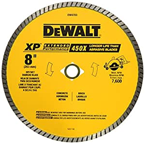 Dewalt Dw4703 Industrial 8 Inch Dry Or Wet Cutting