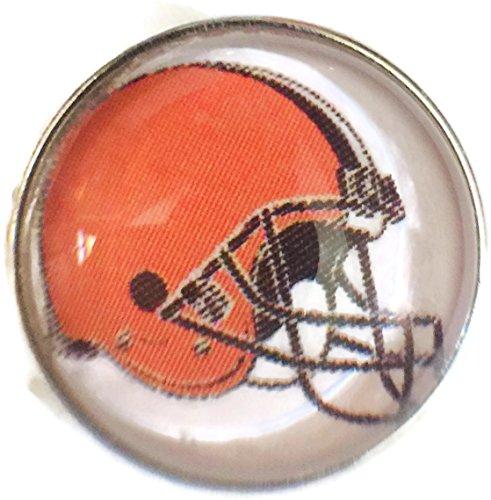 Nfl Logo Charm - Fashion Snap Jewelry NFL Logo Cleveland Browns Snap Charm