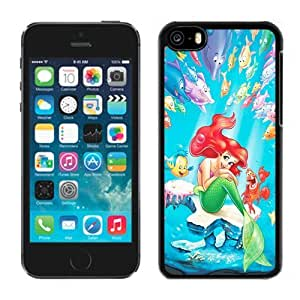 Attractive Iphone 5c Case Design with The Little Mermaid Iphone 5c Generation Phone Case in Black hjbrhga1544