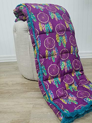 Purple Dream Catcher Weighted Blanket Throw