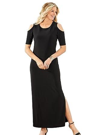 5a26f7d7de AmeriMark Cold Shoulder Maxi Dress at Amazon Women's Clothing store: