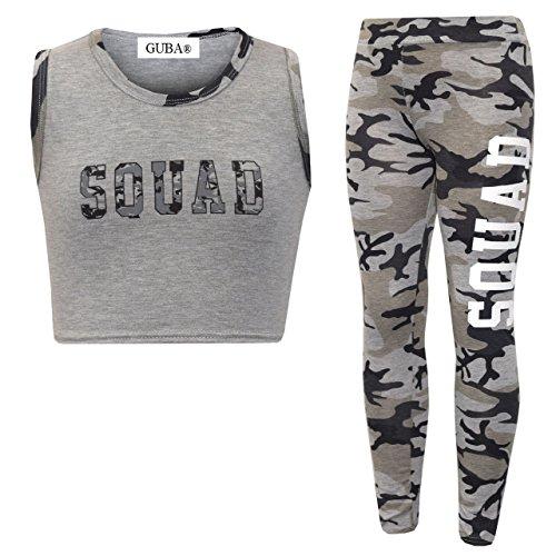 GUBA/® Girls New Adios Athletic Camouflage Crop TOP /& Legging Two Piece Set 7-13 Years