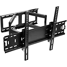 Sunydeal TV Wall Mount Bracket For 32 39 40 42 43 45 46 47 48 49 50 55 60 65 inch LCD LED Smart TVs - Full Motion Articulating Arm Swivel Tilt - Holds 120 lbs, Extend 19 inch, VESA Up 600x400mm