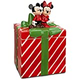 Mickey and Minnie Mouse Christmas Holiday Cookie Jar