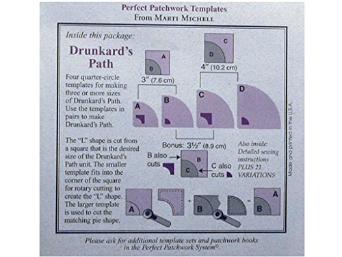 Perfect Patchwork Template, Drunkard's Path, Package of ()