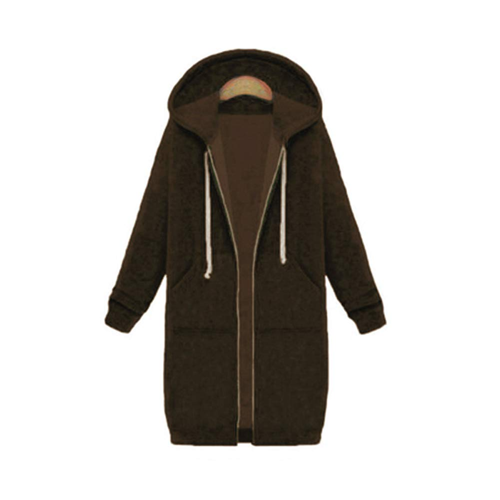 Mordenmiss Womens Button Closure Hoodies Cotton Coat with Pockets